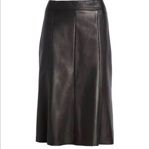 Nordstrom Signature Black Leather Skirt- ChicEwe